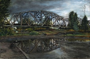 Hayden Island Railroad Bridge, May, 2011