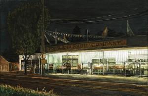 """Portland Fruit Company, 2005 Ink, dye, graphite on board. 4.25"""" x 6.5"""""""