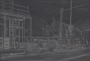 "North Cook and Vancouver, 20158"" x 12""graphite on paper"