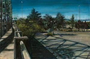 Interstate Bridge Shadow, 2007 4.25 x 6.5 ink, dye and graphite on vinci board