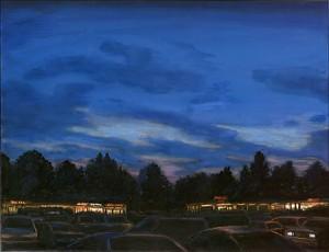 "Southeast 82nd Avenue Strip Mall, 2002 Ink, dye, graphite on board. 6.5"" x 8.5"""