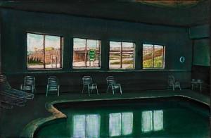 """Breezewood, 2003 Ink, dye, graphite on board. 4.25"""" x 6.5"""""""