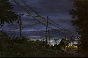 "Gladstone, 2000. Ink, dye, graphite on board. 4.25"" x 6.5"""