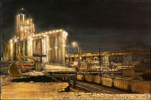 """Interstate Avenue Removed, 2002 Ink, dye, graphite on board. 4.25"""" x 6.5"""""""